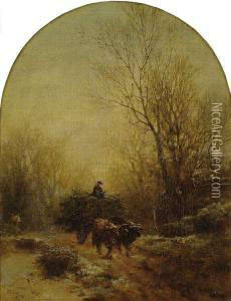 A Full Wagon Oil Painting - Albert (Fitch) Bellows