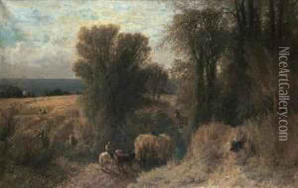 The Hay Wagon Oil Painting - Albert (Fitch) Bellows