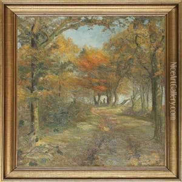 From Herlufsholmskovenforest, Denmark Oil Painting - Aage Bertelsen