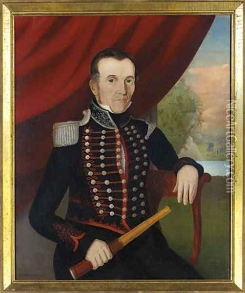 Portrait of Mr. Newman 1836 Oil Painting - John Bradley