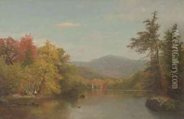 By the Water's Edge Oil Painting - Albert (Fitch) Bellows