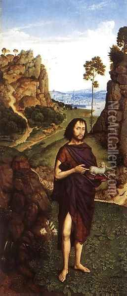 St John the Baptist c. 1470 Oil Painting - Dieric the Younger Bouts