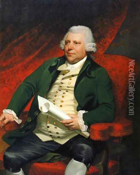 Sir Richard Arkwright Oil Painting - Mather Brown