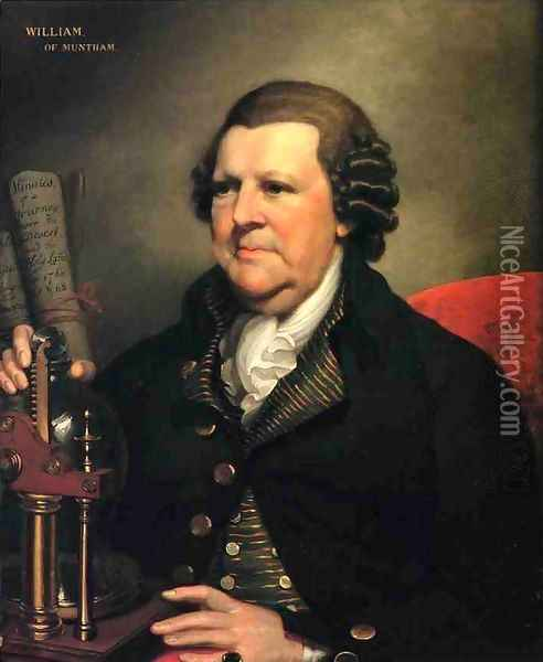 Portrait of Sir William Frankland of Muntham, Sussex Oil Painting - Mather Brown