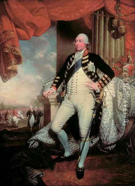Portrait of George III Oil Painting - Mather Brown
