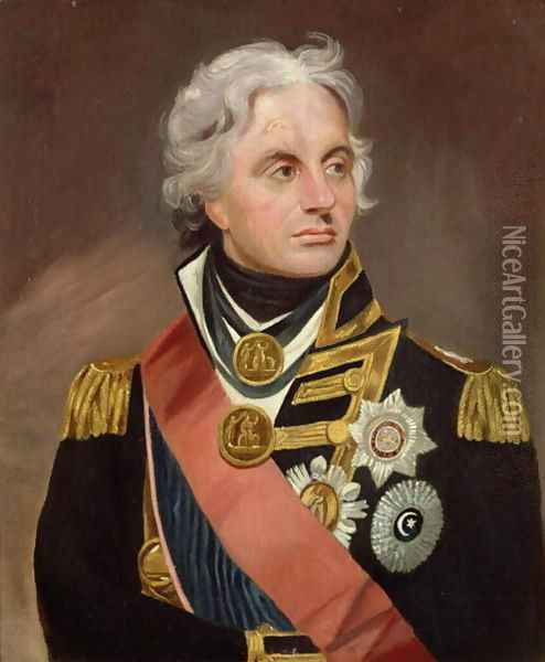 Lord Nelson Oil Painting - Sir William Beechey