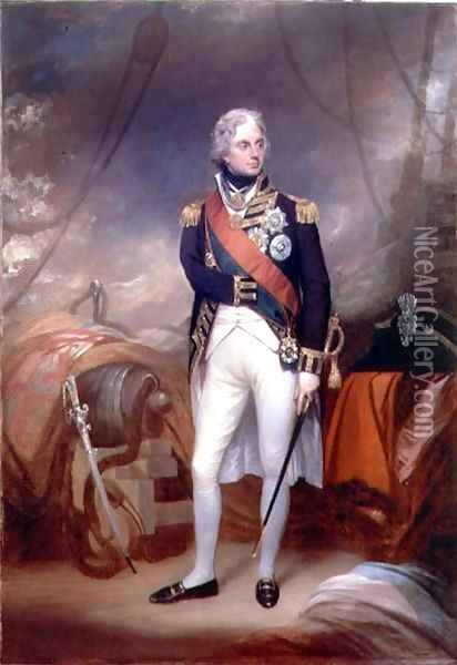 Portrait of Horatio Viscount Nelson Oil Painting - Sir William Beechey