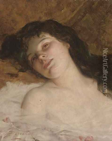 A reclining beauty Oil Painting - Pierre Bonnaud