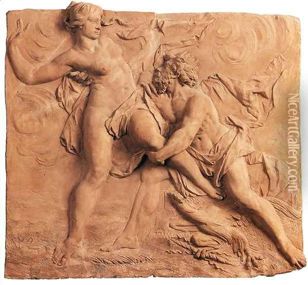 The Abduction of Persephone by Hades Oil Painting - Jan Peter van Baurscheit the Elder