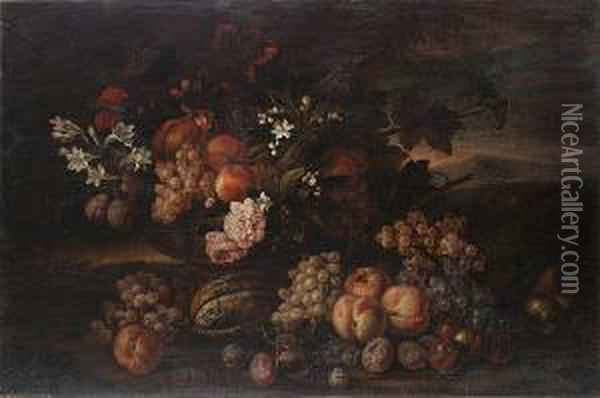 Peaches, Grapes, Pomegranates 
