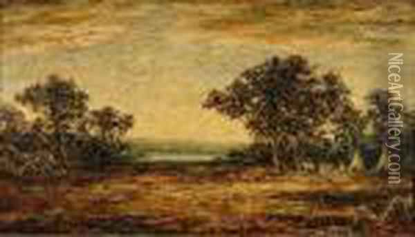 Indian Encampment Oil Painting - Ralph Albert Blakelock