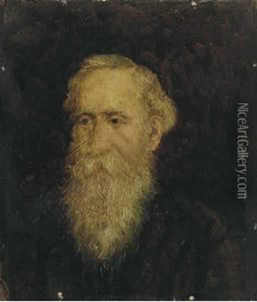 A Portrait Of Dr. Blakelock, The Artist's Father Oil Painting - Ralph Albert Blakelock