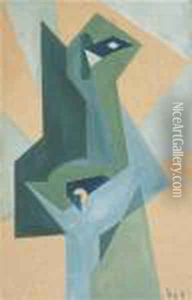 Composition Cubiste Oil Painting - Maria Blanchard