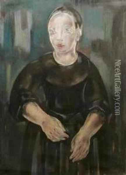 Portrat Eines Madchens. Oil Painting - Maria Blanchard