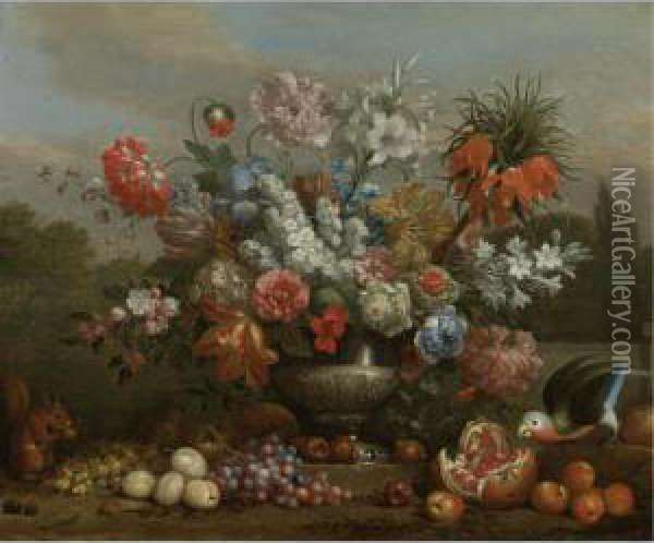 Still Life With Flowers In A 