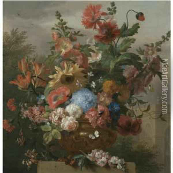A Still Life With A Sunflower, 