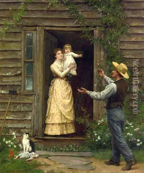 The Homecoming Oil Painting - Jennie Augusta Brownscombe