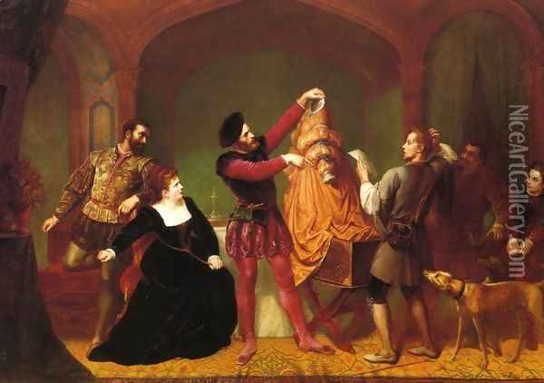 A Scene from 'The Taming of the Shrew' (Act IV, Scene III) Oil Painting - Wolfgang Boehm