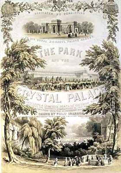 Frontispiece to 'The Park and the Crystal Palace' Oil Painting - Philip Brannon