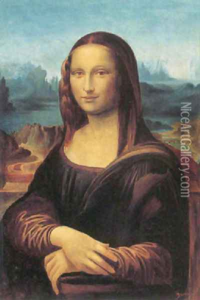 Mona Lisa (after Leonardo Da Vinci) Oil Painting - (Albert d'Arnoux) Bertall