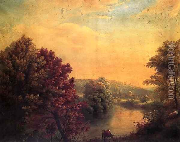 View on Mohawk from Frankford Road Oil Painting - Manneville (Elihu Dearing) Brown