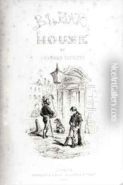 Title page of 'Bleak House' Oil Painting - Hablot Knight Browne