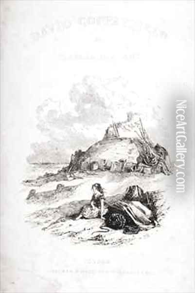 Title page illustration from 'David Copperfield' Oil Painting - Hablot Knight Browne