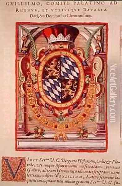 Coat of Arms Oil Painting - Theodore de Bry