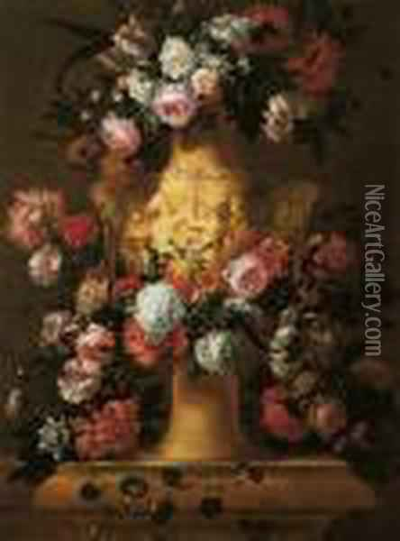 Vaso Di Fiori Oil Painting - Ambrosius the Elder Bosschaert