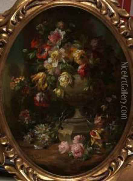 Composizione Floreale Oil Painting - Francesco Bosso