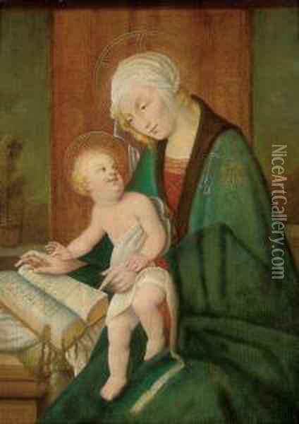 The Madonna And Child Oil Painting - Sandro Botticelli