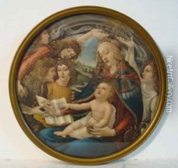 Madonna Of The Magnificat Oil Painting - Sandro Botticelli