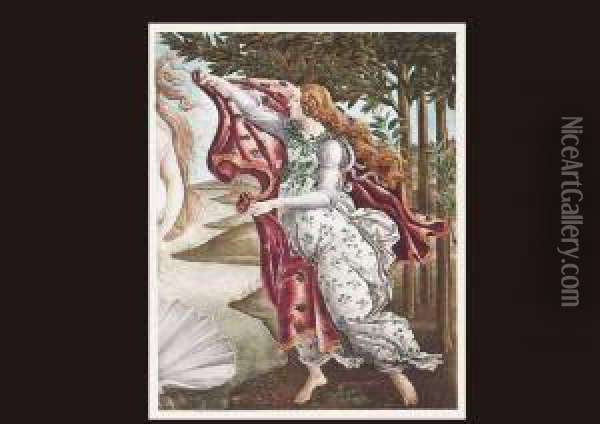 From The Birth Of Venus(a Set Of 3) Oil Painting - Sandro Botticelli