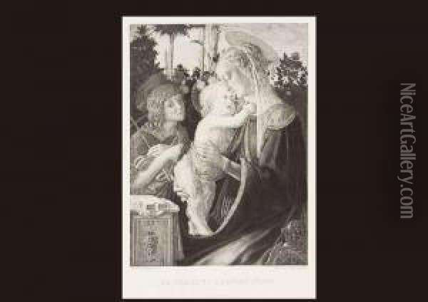 The Virgin And The Child Oil Painting - Sandro Botticelli