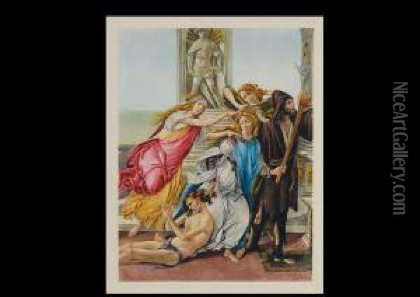 From Calumny Of Apelles Oil Painting - Sandro Botticelli