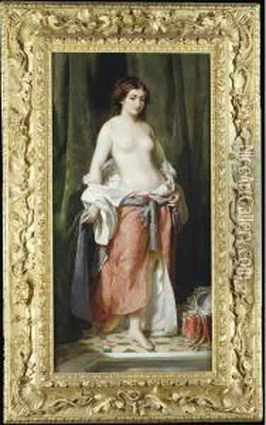 Before The Bath Oil Painting - Charles Edouard Boutibonne