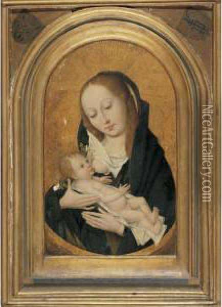 Virgin And Child Oil Painting - Dieric the Elder Bouts