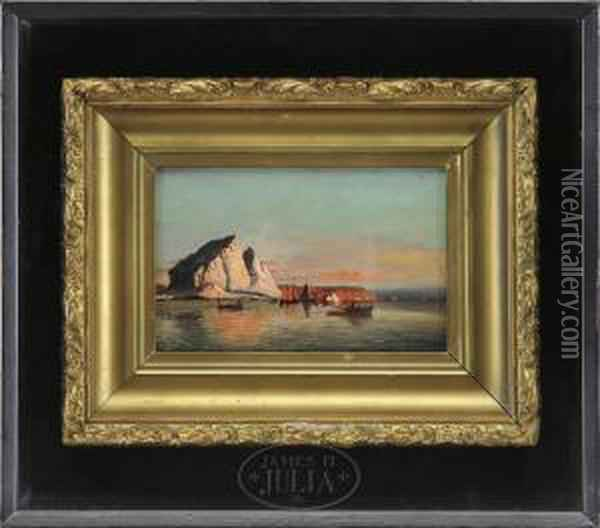 Shipping Amongst The Icebergs Oil Painting - William Bradford