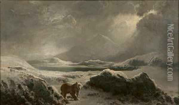 A Polar Bear In The Arctic Oil Painting - William Bradford