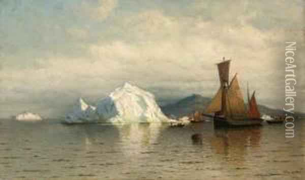 Labrador Fishing Boats Near Cape Charles Oil Painting - William Bradford