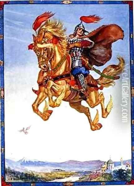 The horse went flying through the air Oil Painting - Charles Edmund Brock