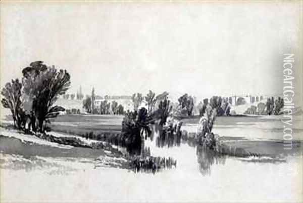 River Sowe, near Coventry Oil Painting - John Cooke Bourne