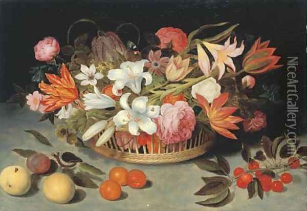 Flowers 2 Oil Painting - Ambrosius the Elder Bosschaert