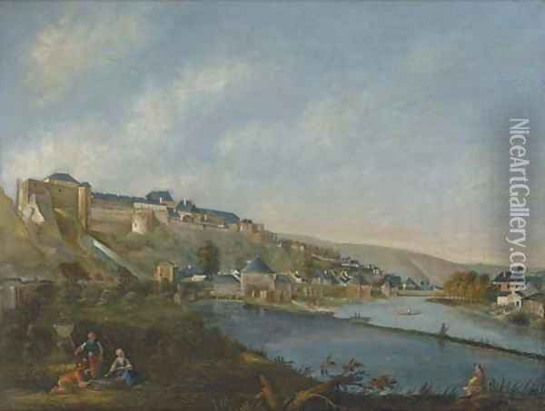 A river landscape with a German fortified town Oil Painting - Bernardo Bellotto