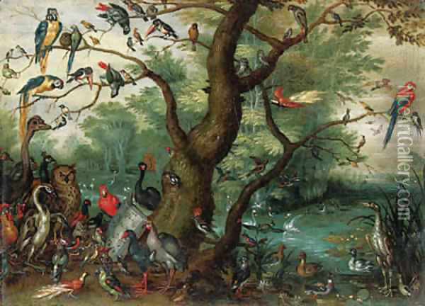 A Concert of Birds Oil Painting - Jan Brueghel the Younger
