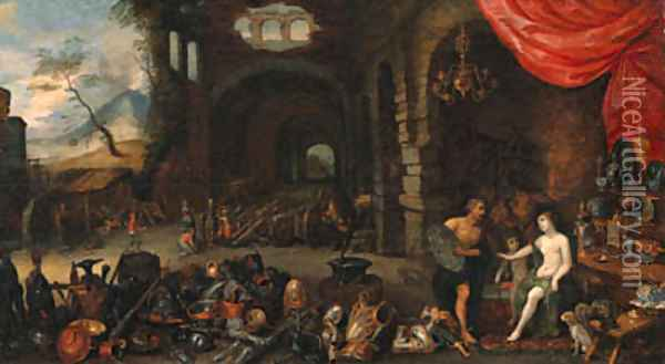 Venus at the Forge of Vulcan 2 Oil Painting - Jan Brueghel the Younger
