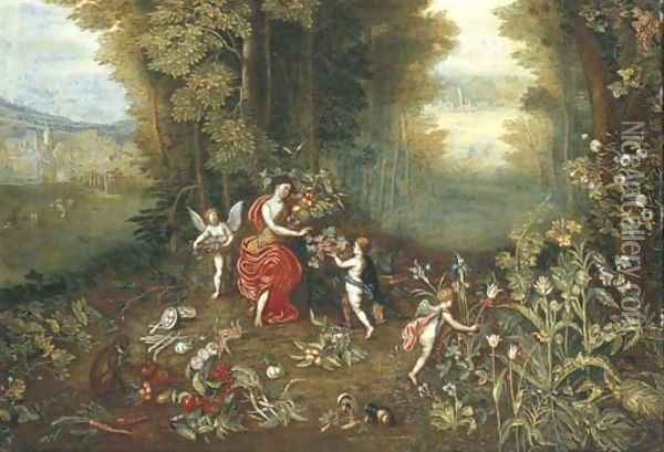 An Allegory of Earth 3 Oil Painting - Jan Brueghel the Younger
