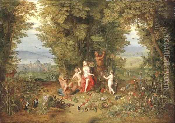 An Allegory of Earth 2 Oil Painting - Jan Brueghel the Younger