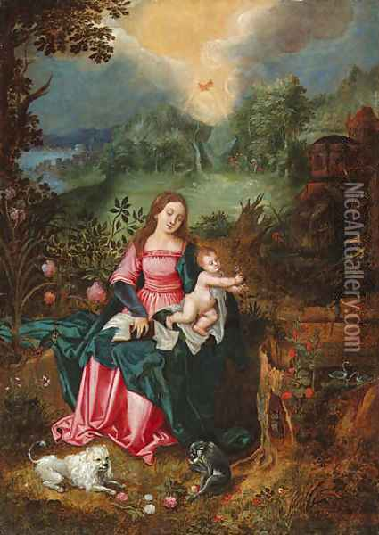 The Virgin and Child Oil Painting - Jan Brueghel the Younger
