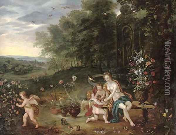Allegory of Spring Oil Painting - Jan Brueghel the Younger